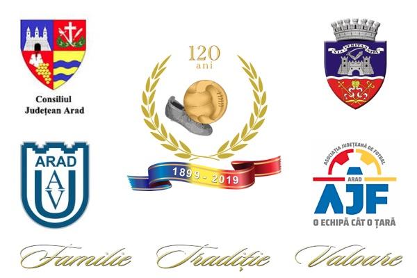 "120 de ani de fotbal la Arad: Parteneriat Universitatea ""Aurel Vlaicu"" – AJF Arad!"