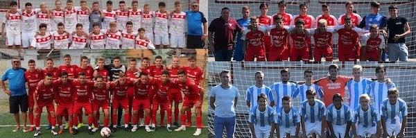 Cupa Aradului: finalistele de la juniori A - UTA 2003, UTA 2004, UTA 2002 și Podgoria Pâncota